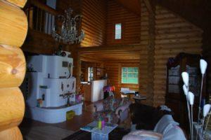 Woonkamer houten huis